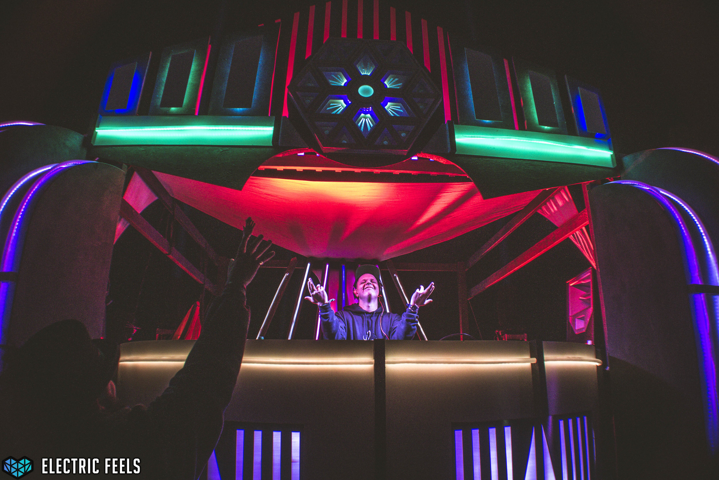 Conrank throws down at the Pisces Moon Stage  Photo Credit: Colin Eldridge