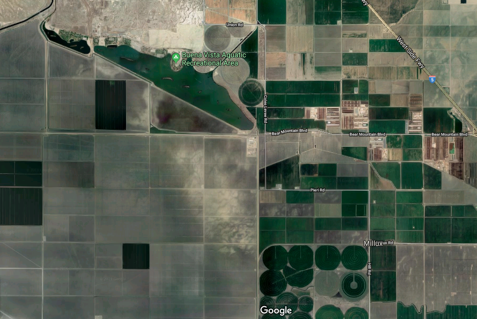 The Buena Vista Aquatic Recreational Area where LiB was held neighbors thousands of industrial agriculture fields   📷: Google Maps