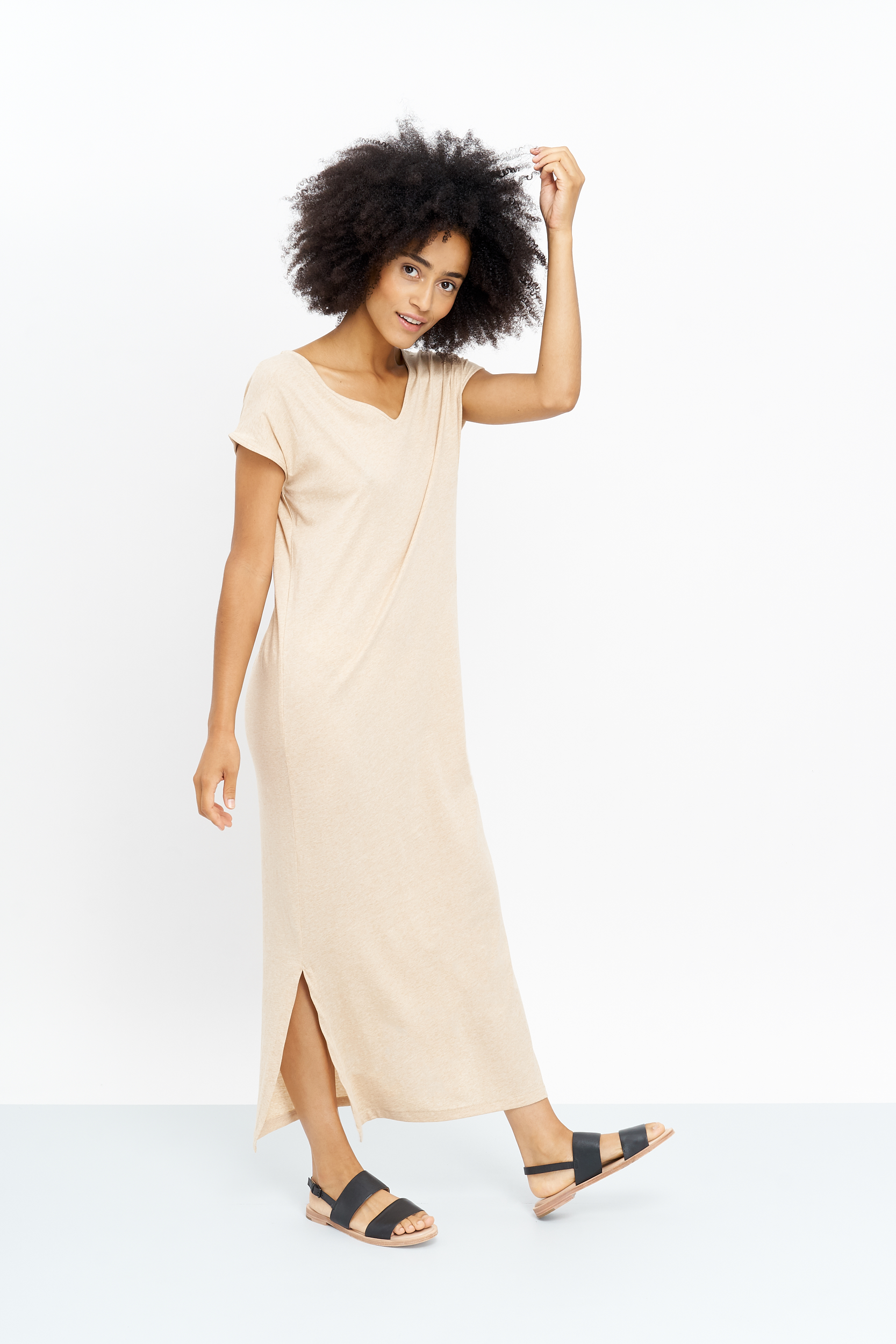 The soledad dress is made our of a beautiful organic cotton in Peru and will launch mid March.