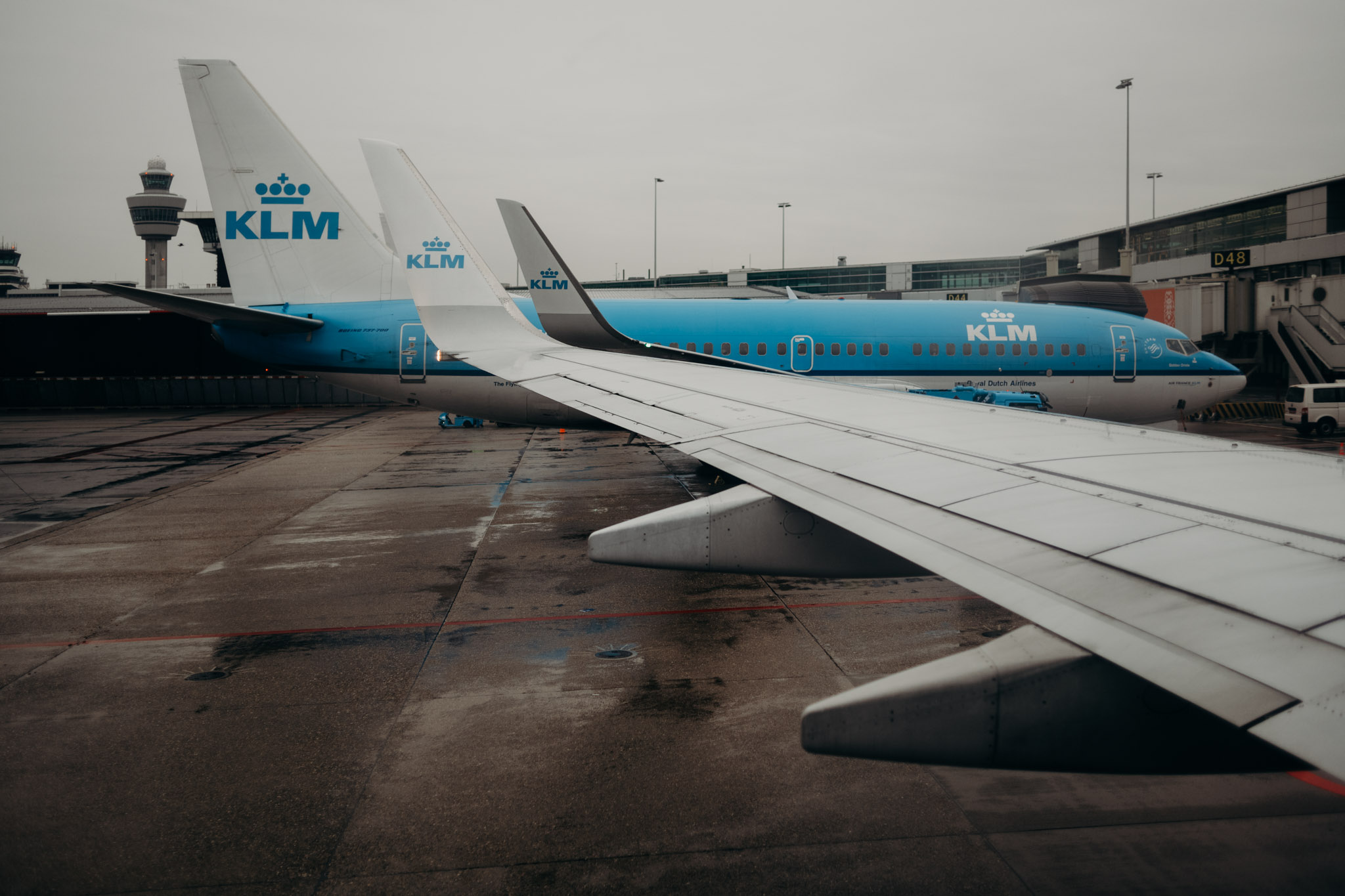 Now with KLM airlines, Amsterdam airport. Final connection to Vienna.