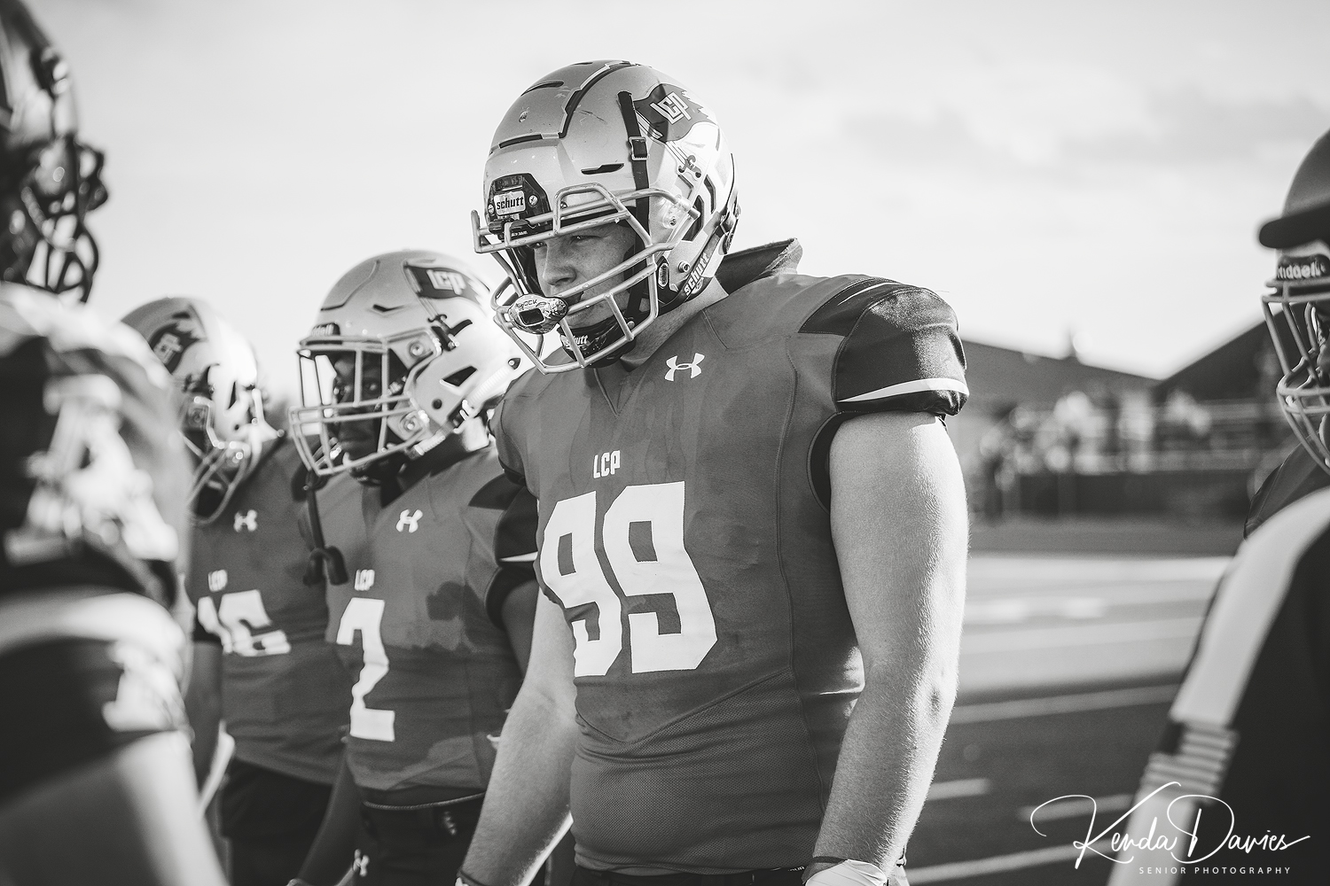 #99 Gage Peters eyes his opponents after waiting an entire year to get back on the field after a season ending knee injury sidelined him his junior year.