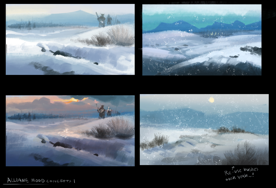 Early explorations of the environment.