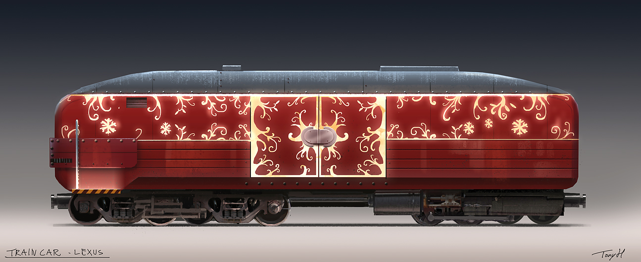 Painted wagon.