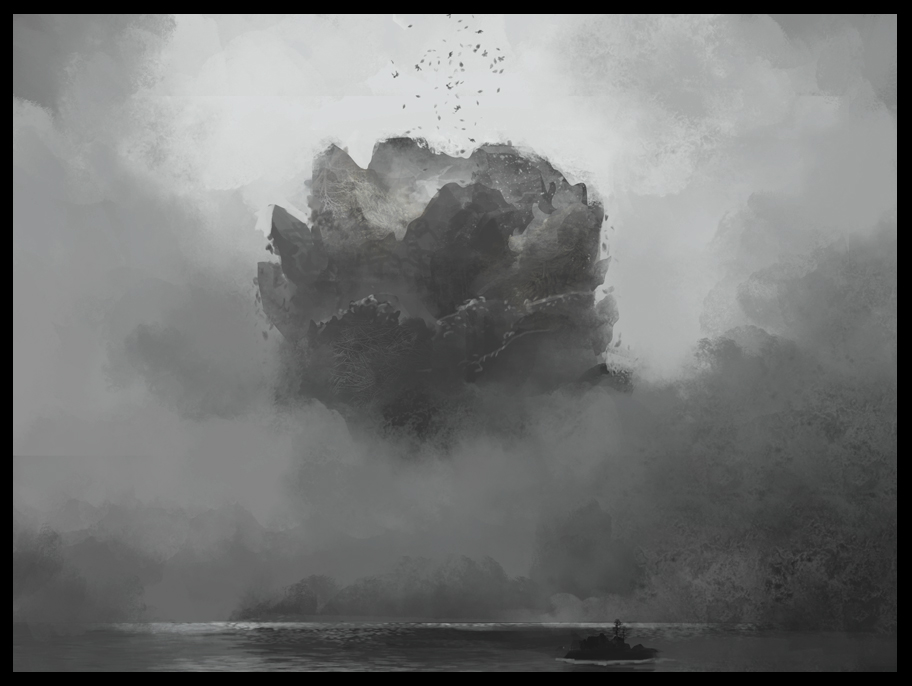 Early idea sketching of mountain of corpses.