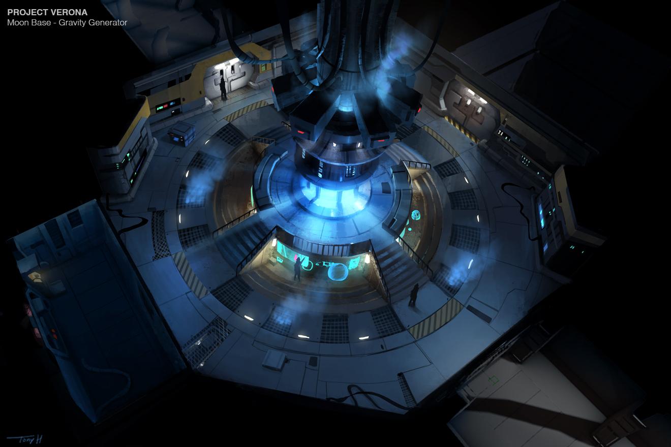 Moon base Gravity Generator