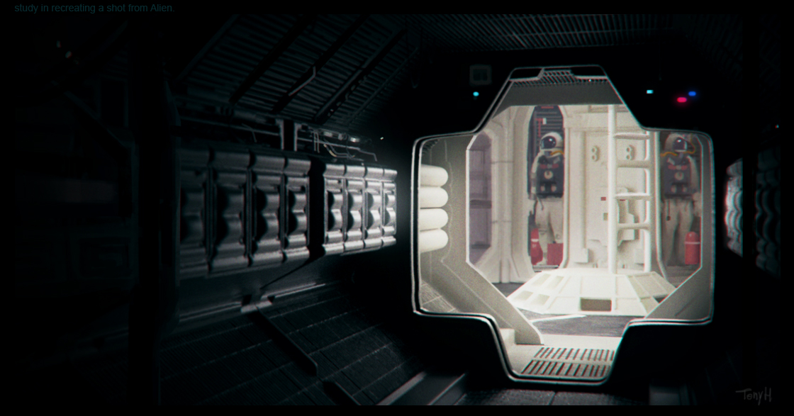 A study from a frame from Alien. 3Dcoat, Keyshot and Photoshop.