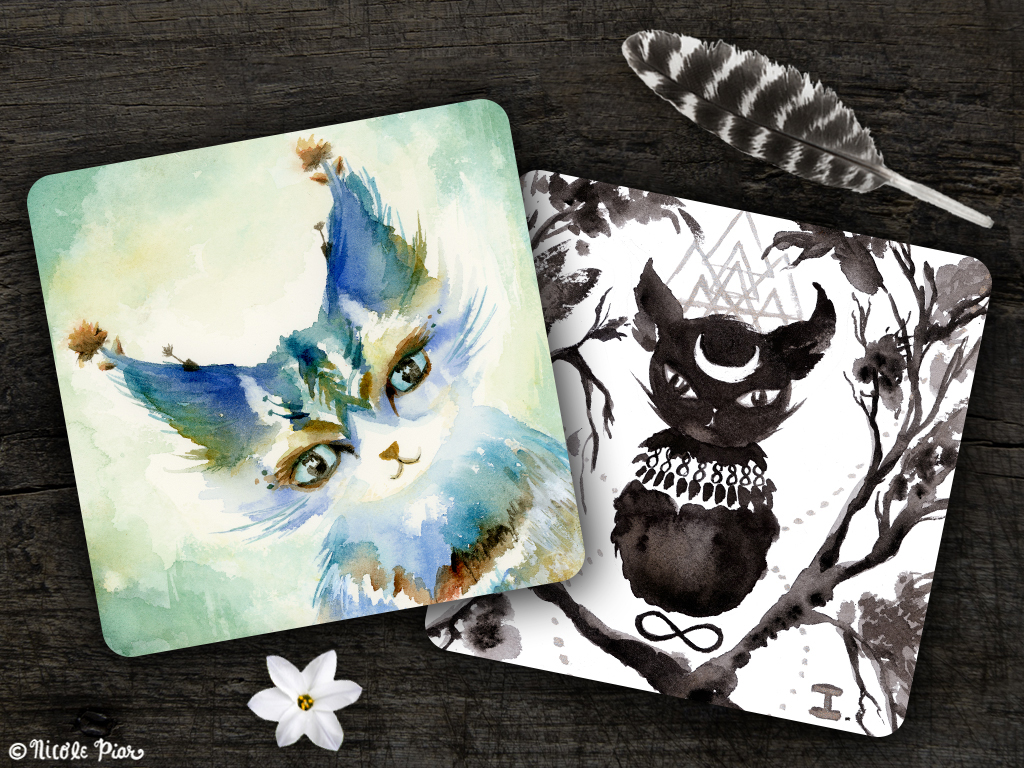 Spirit Cat Cards, by Nicole Piar