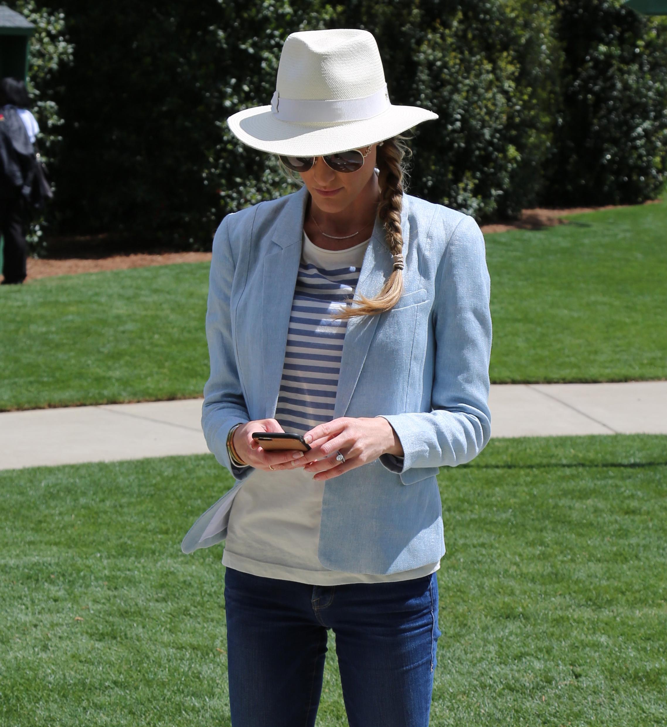 Jeans: Frame, Shirt:KitX, Blazer:Zara, Ring: G, Hat: Helen Kaminski, Sunnies: Gucci