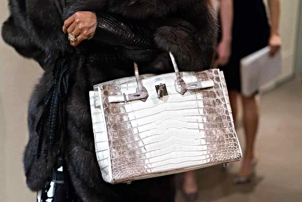 Hermès Himalayan crocodile Birkin bag