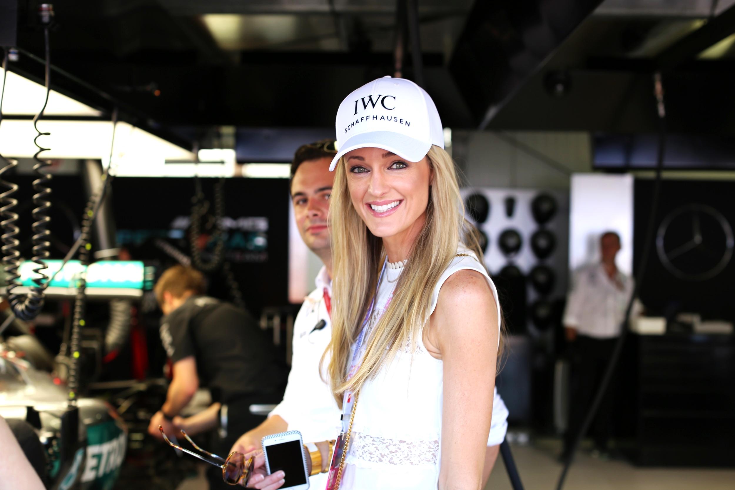 Inside the Mercedes AMG Petronas garage on Pit Lane