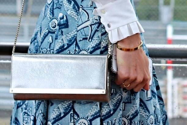 Bag: Jimmy Choo, Bracelet: Cartier