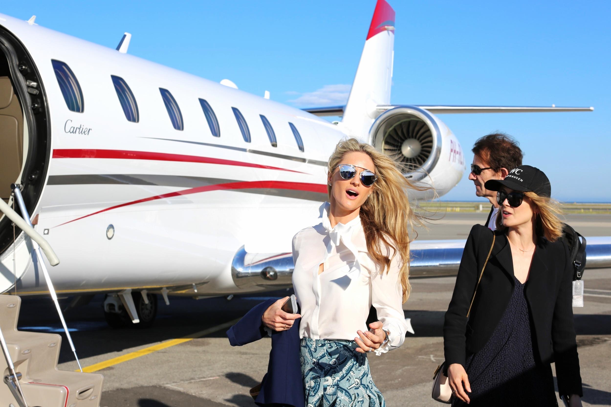 Sunnies: Dior, Jacket: Maje, Top: Karl Lagerfeld