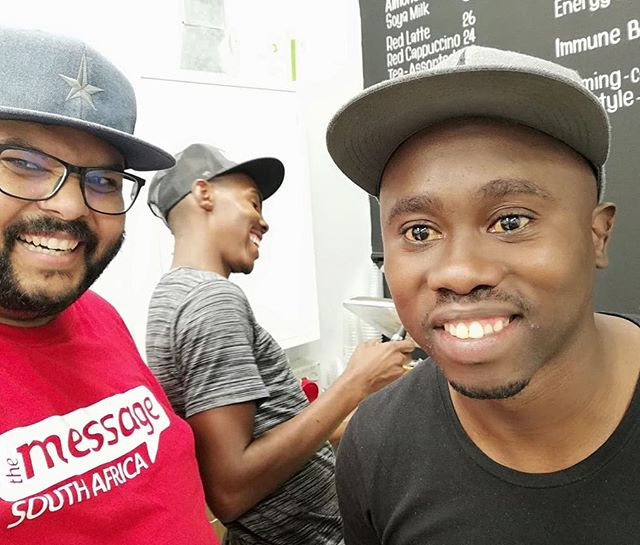 We love visitors at Gangstar Cafe Durbanville! Especially when it's from our parent company @message_trust_sa