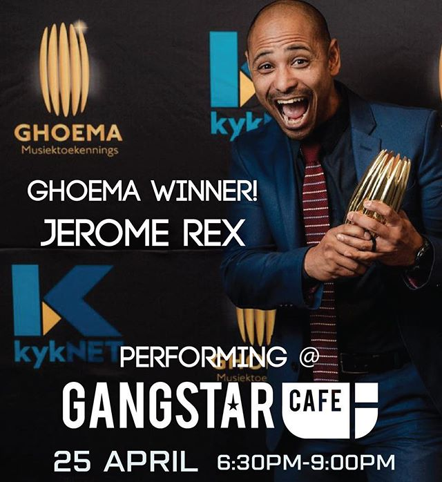 Don't forget Thursday night live this week! One of our performers Jerome Rex, was just awarded a Ghoema award! Come down to Mowbray to see him perform FREE! @jerome_rex