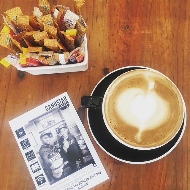Ever tried single origin coffee from Brazil? At Gangstar Cafe we serve only the finest. Beans sourced from Santos in Brazil are then roasted specifically for us! @gangstar_cafe_sa #singleorigin #coffee