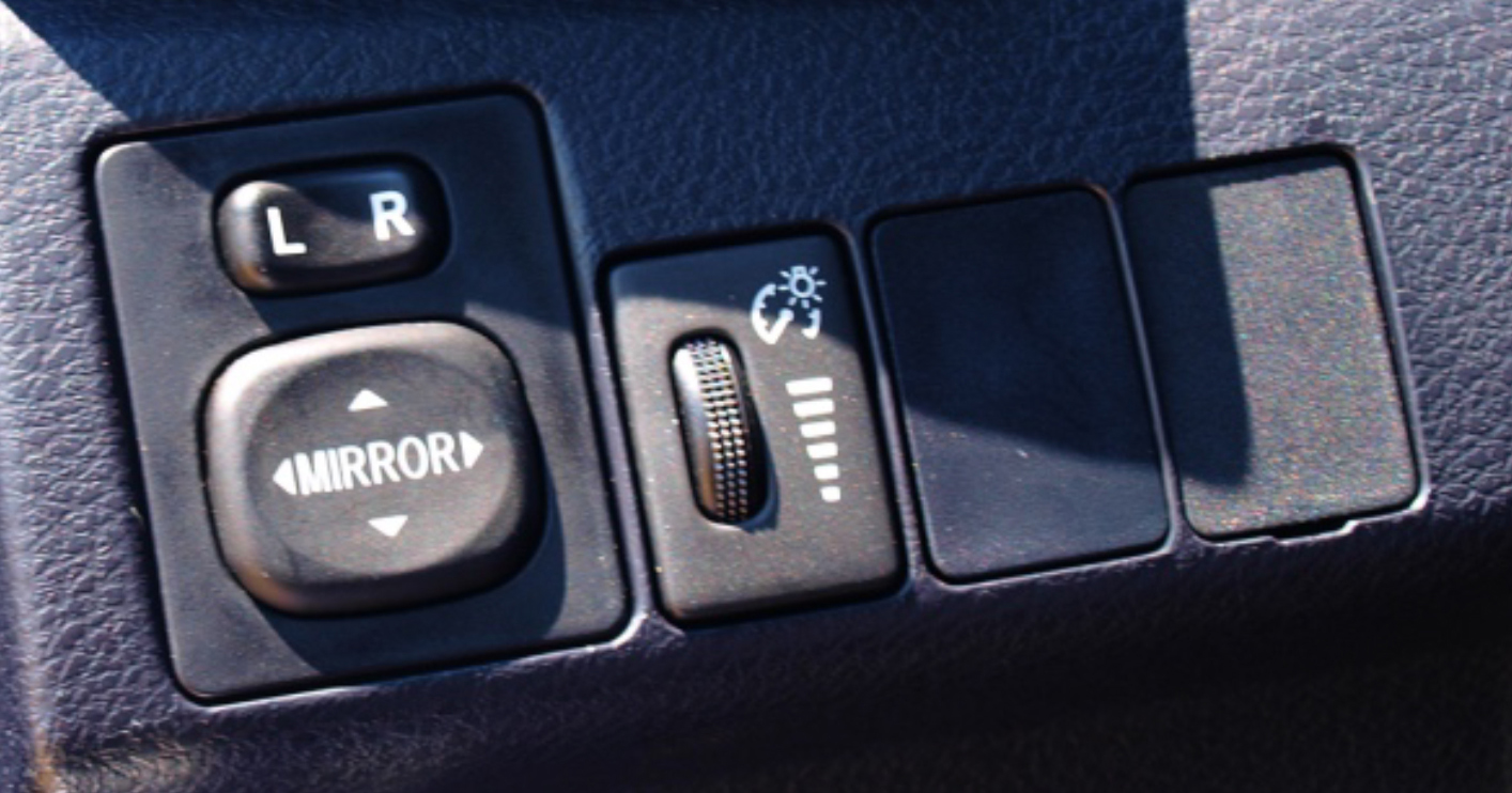 Example of car dummy button
