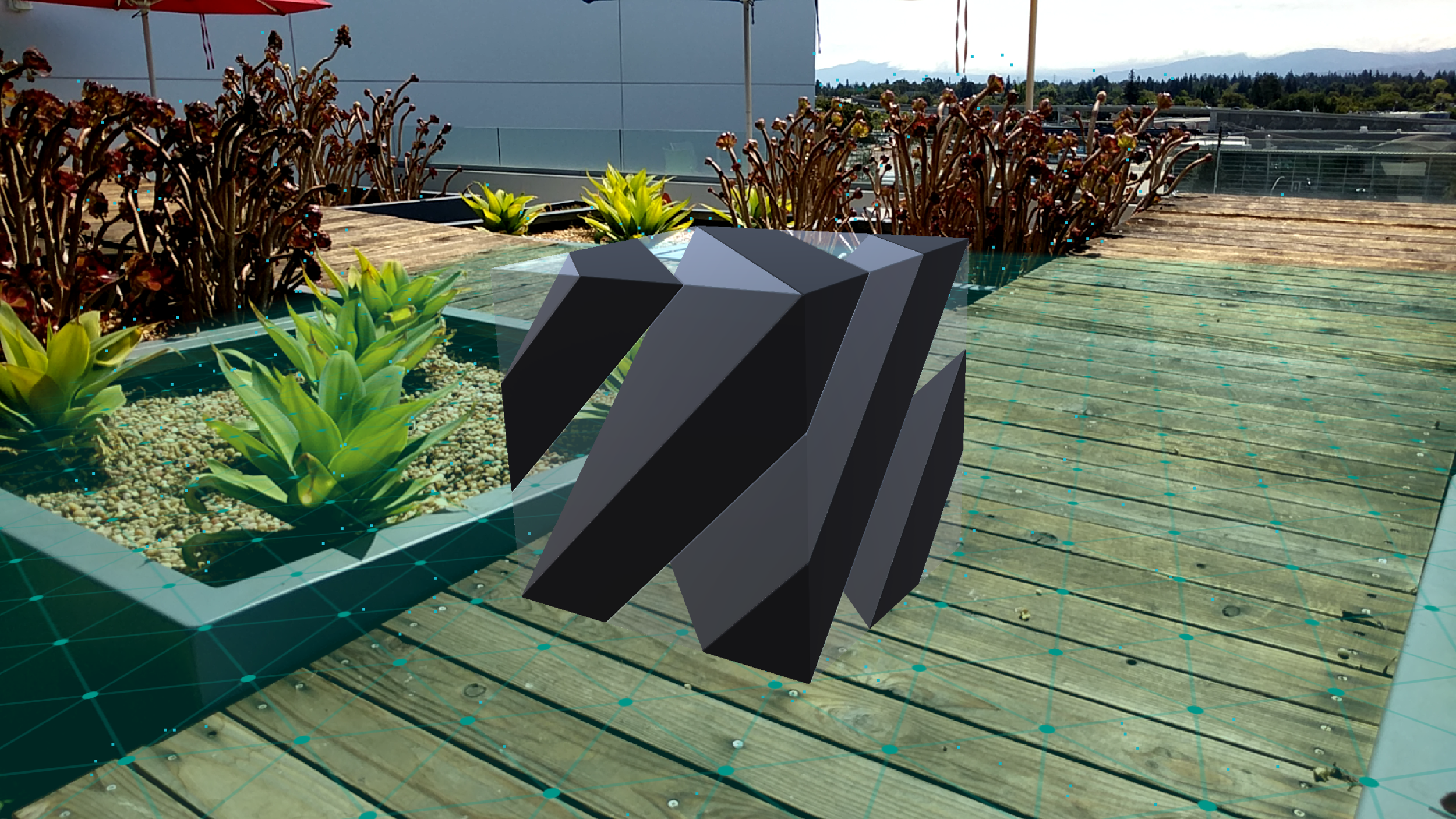 Modeling rendered on Pixel, using ARCore