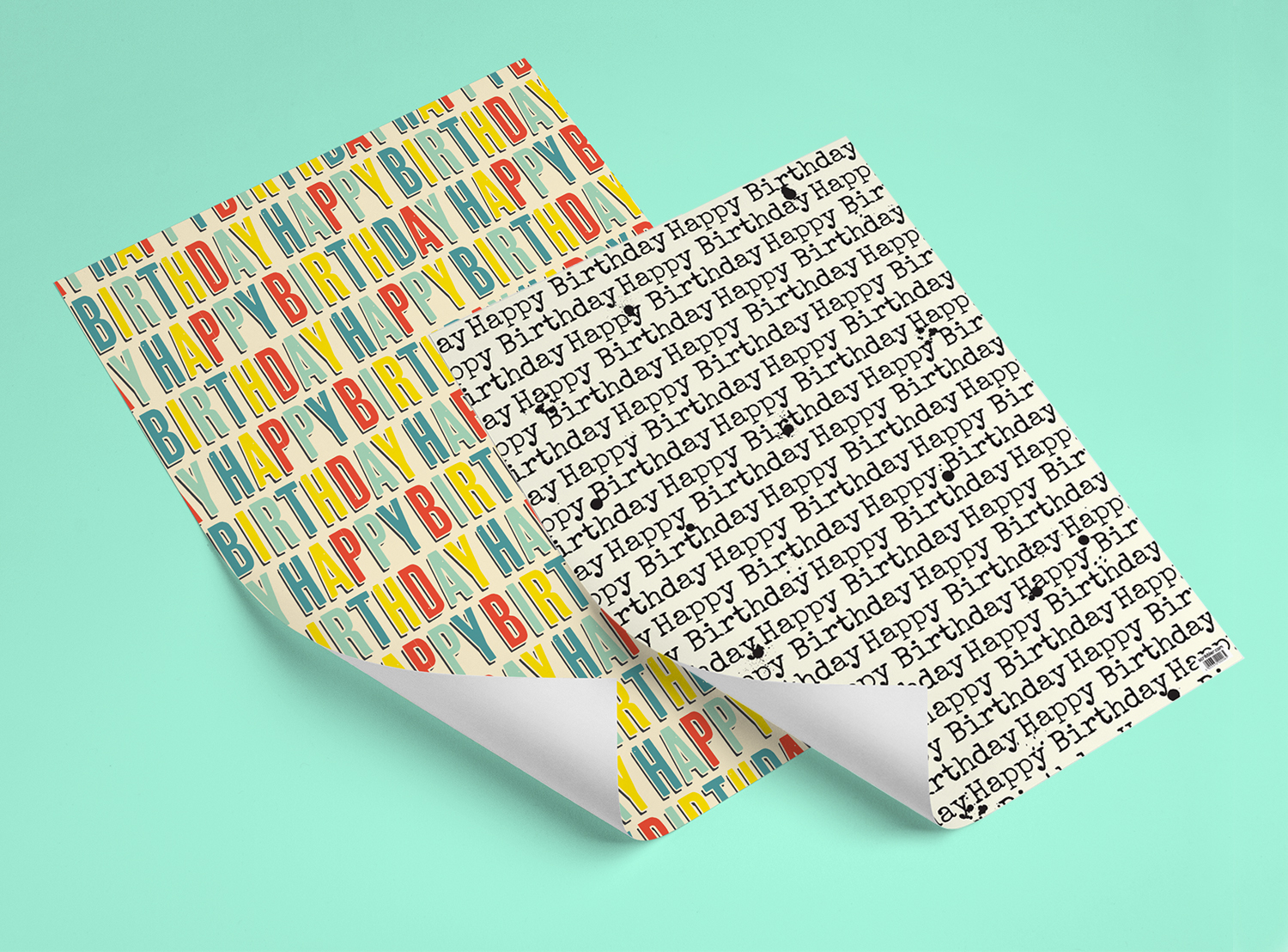 Wrapping Paper / Printed on 110gsm Uncoated Stock