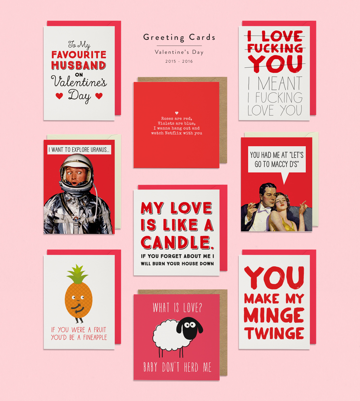 Greeting Cards /Small Selection of some of my most successful designs for Valentine's Day