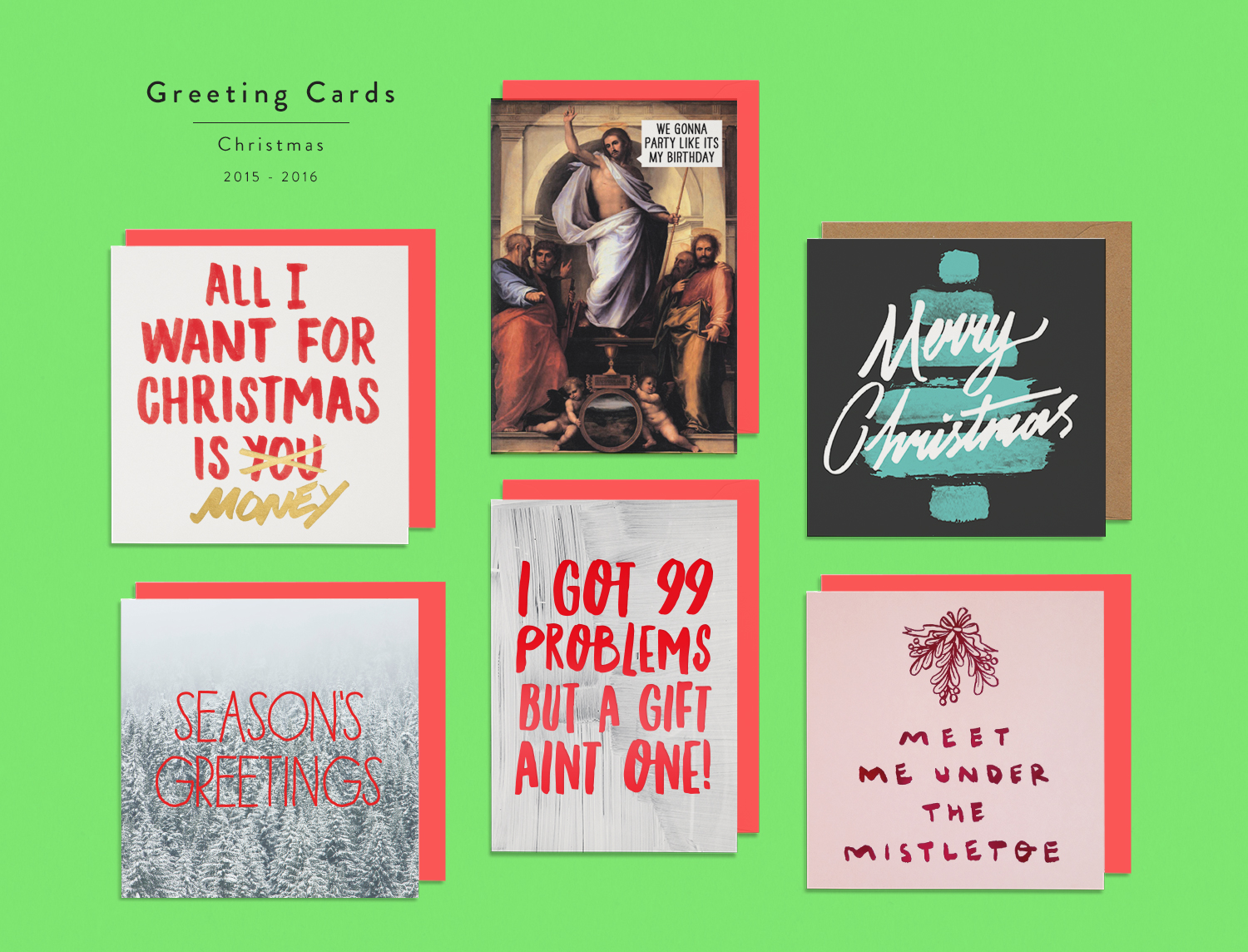 Greeting Cards /Small Selection of some of my most successful designs for Christmas