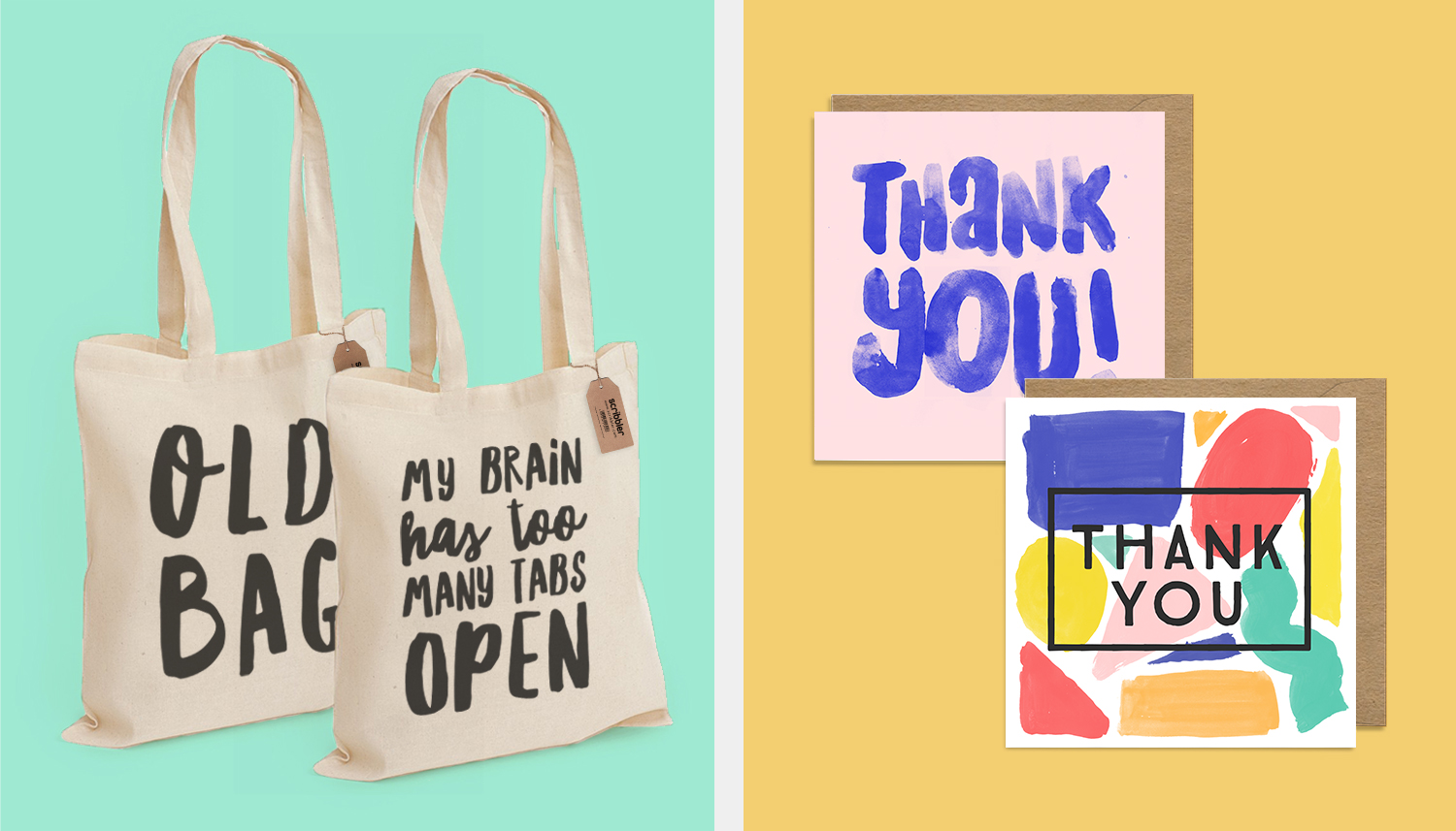 Tote bag & Thank You Pack Designs