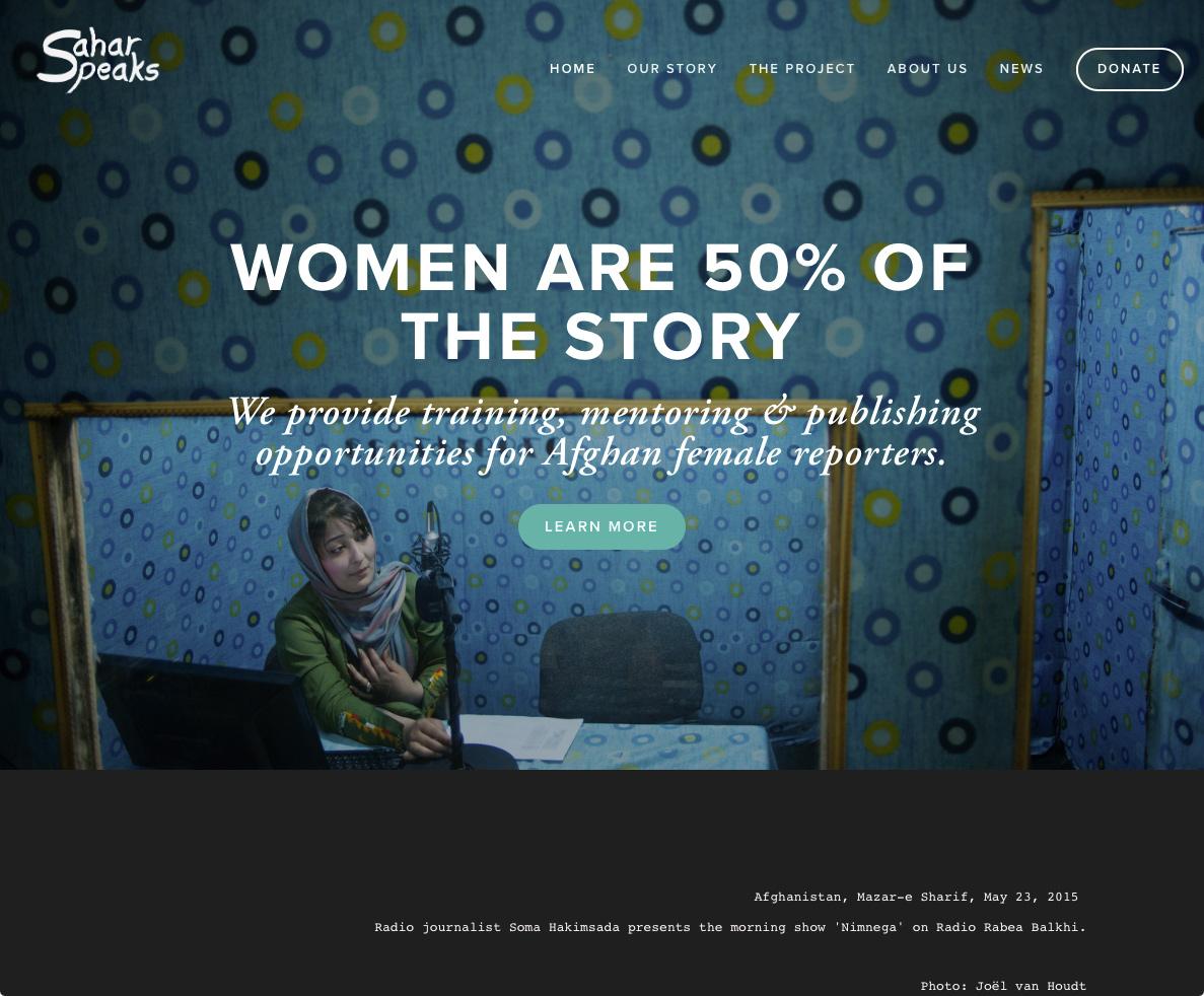 Mazar-e Sharif, women-run radio station