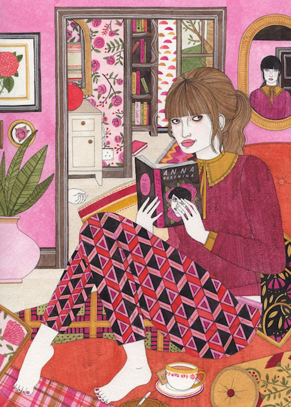 Laura Callaghan,  The Pink Room .www.lauracallaghanillustration.com