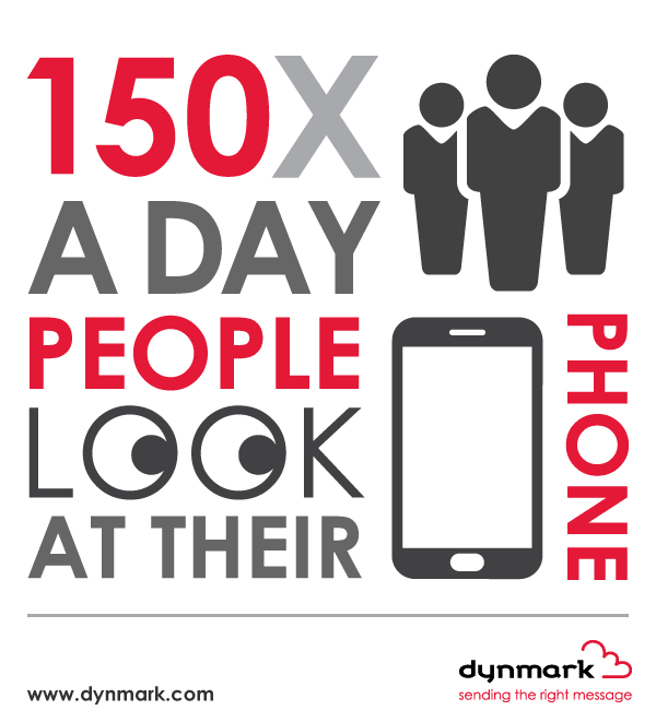 150 times a day people look at their phone