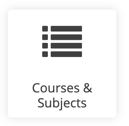 courses and subjects