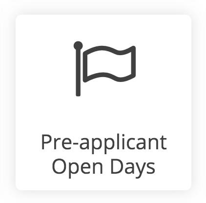 pre applicant open days