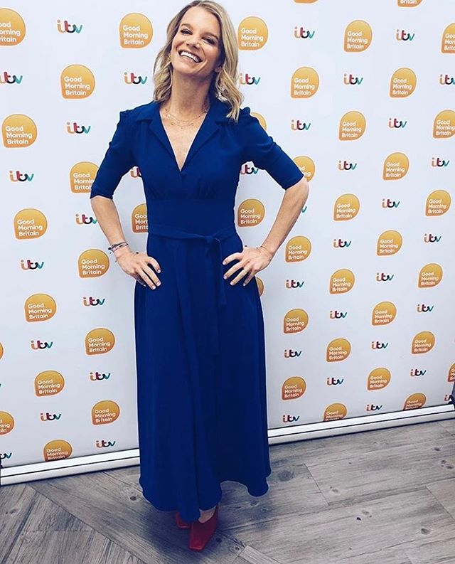 REGRAM: The absolutely stunning @juliemontagu wearing our classic diamond slice necklaces on @gmb this morning! She's also wearing a divine @elainebernstein dress, what a combo! ✨✨ - - - - - - -  #gmtv #royalbirthday #adelphelondon #elainebernstein #londonjewelers #diamondslice #necklace #gold #ethicaljewellery #phillipahastings #edenhastings #summerjewelry