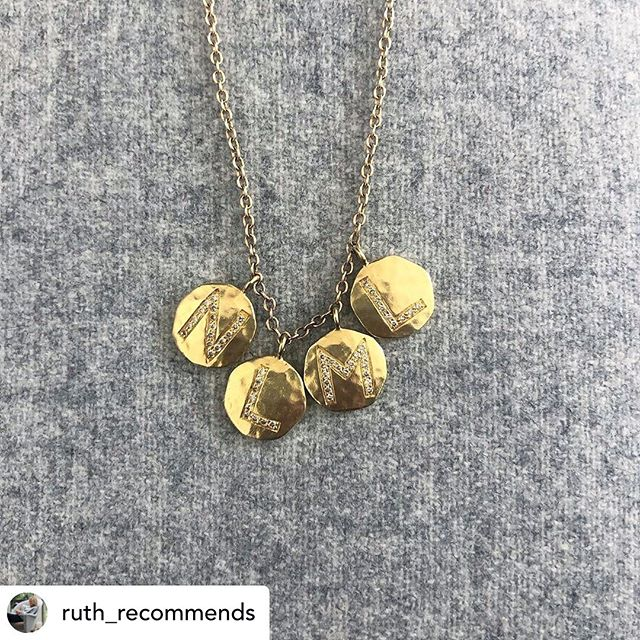 ••• REPOST ••• Thank you! @ruth_recommends Happy US Mother's Day, especially to my own in Chicago. This is one of my most treasured possessions which is a daily reminder of my own four jewels. Self-gifted, very well worn and a beautiful and meaningful piece of jewellery.  By @adelphelondon.  #mothersday #adelphelondon #thejewelswenevertakeoff #selfgifted #gold #diamonds #personalizedgifts #bespokejewellery