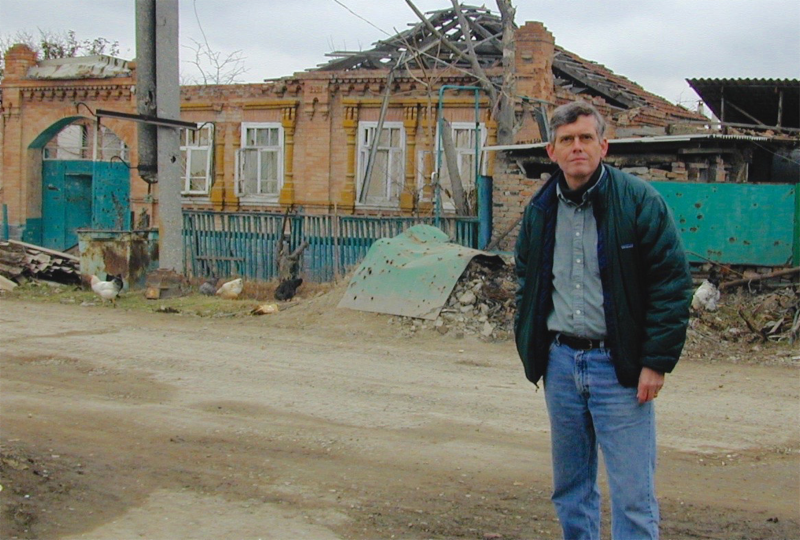 Michael Wines (above) in Grozny, February 2002, after the Russian invasion of Chechnya.