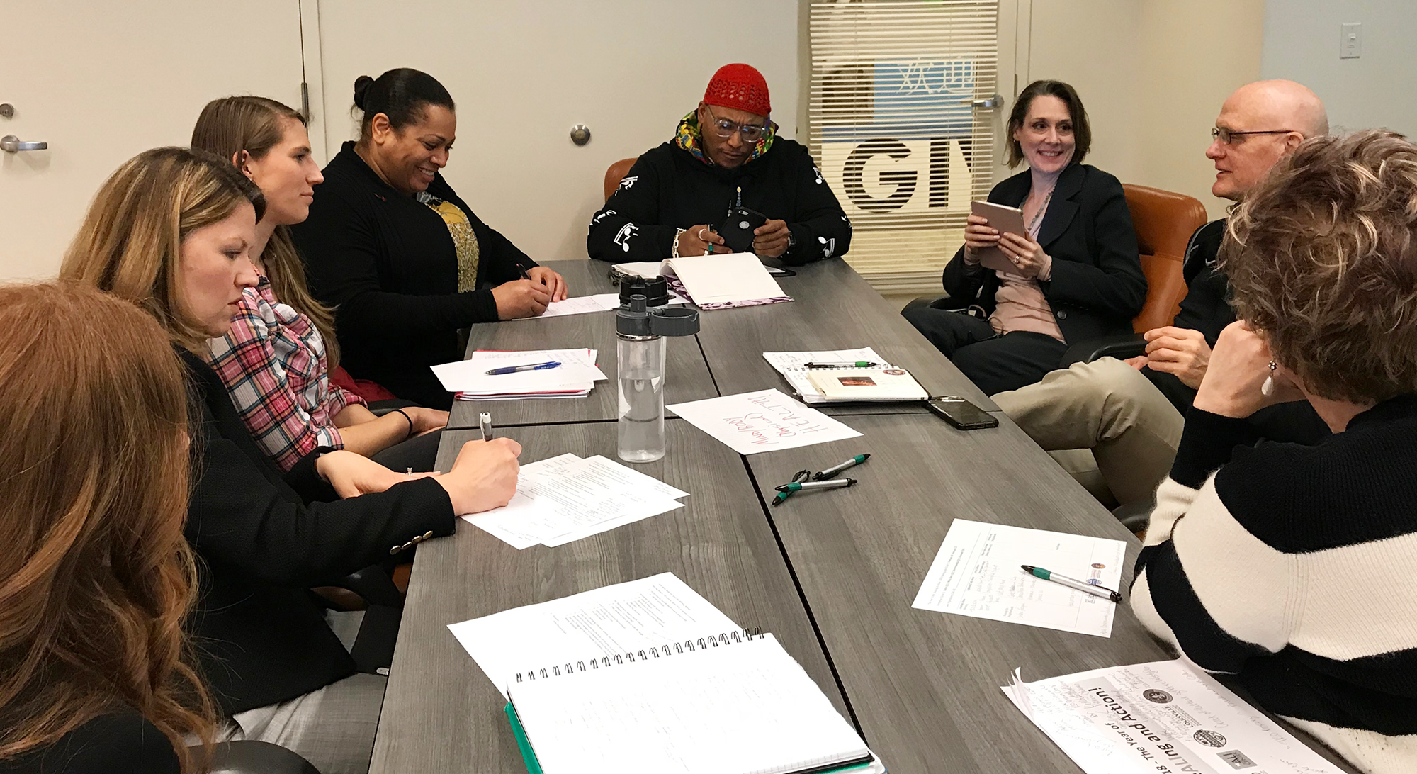 Mind/Body Workgroup during planning meeting at the Muhammad Ali Center.