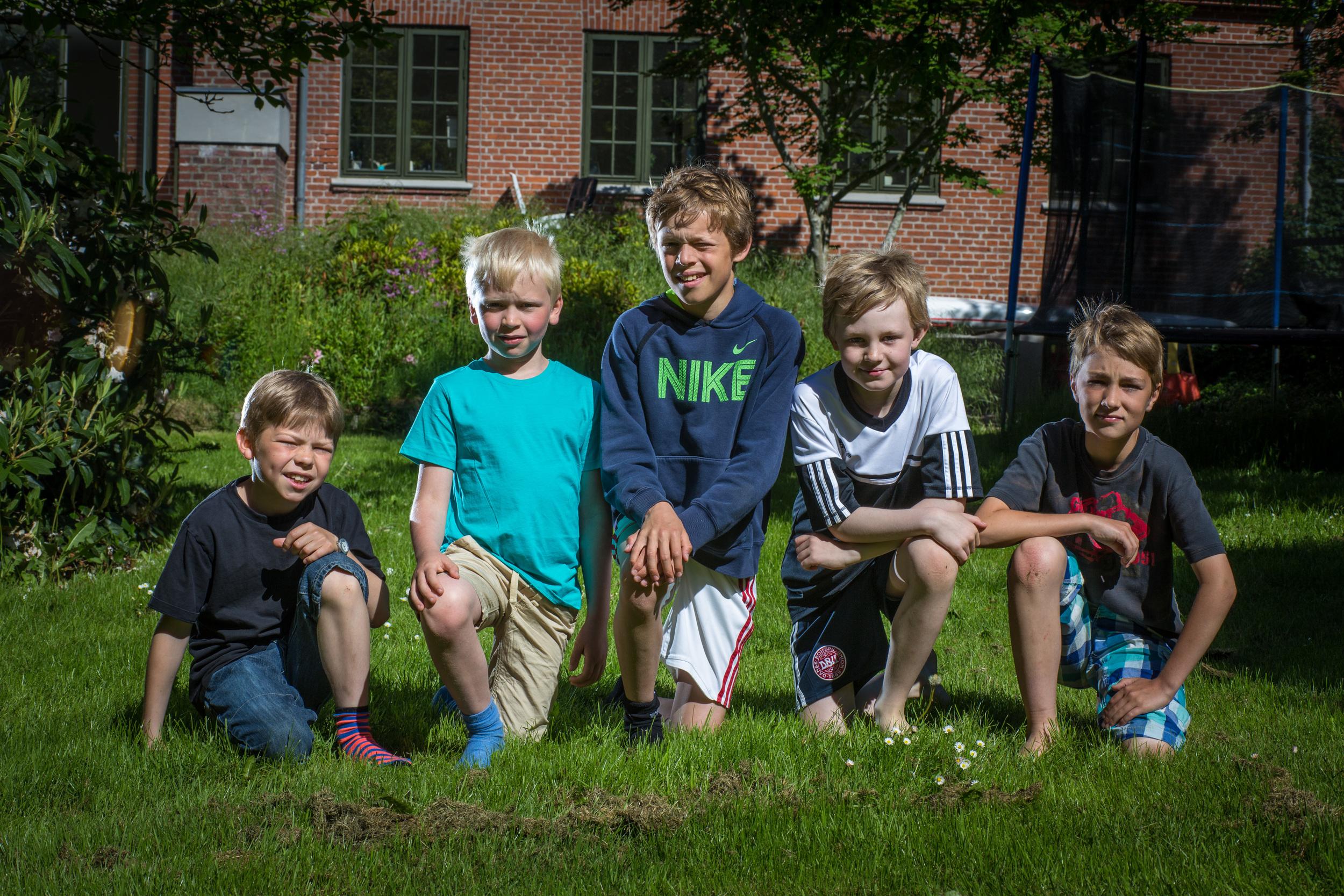 Hans, Gustav, Thomas, Albert og Sofus