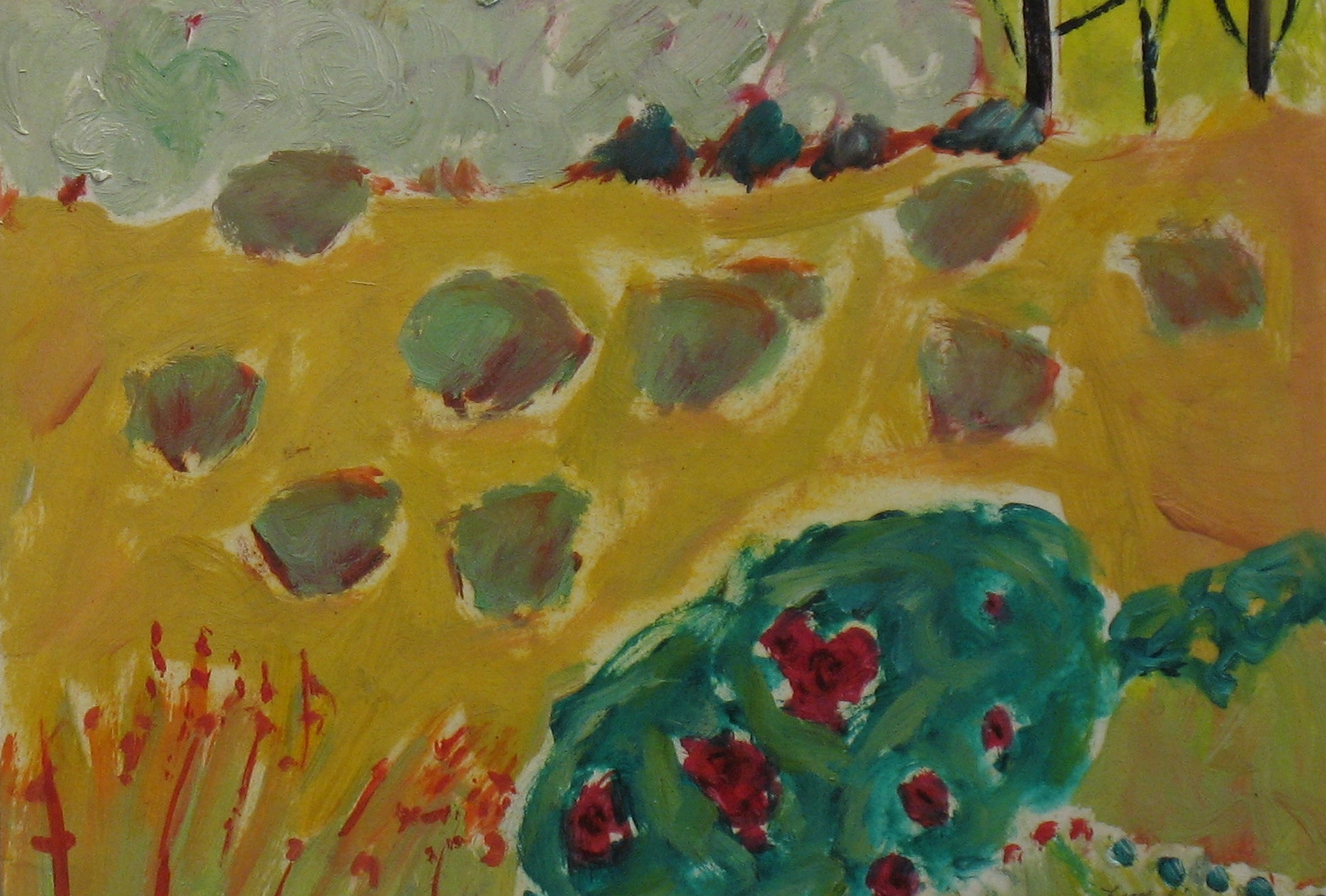 2.Oliander Bush oil on paper board (7x12).jpg