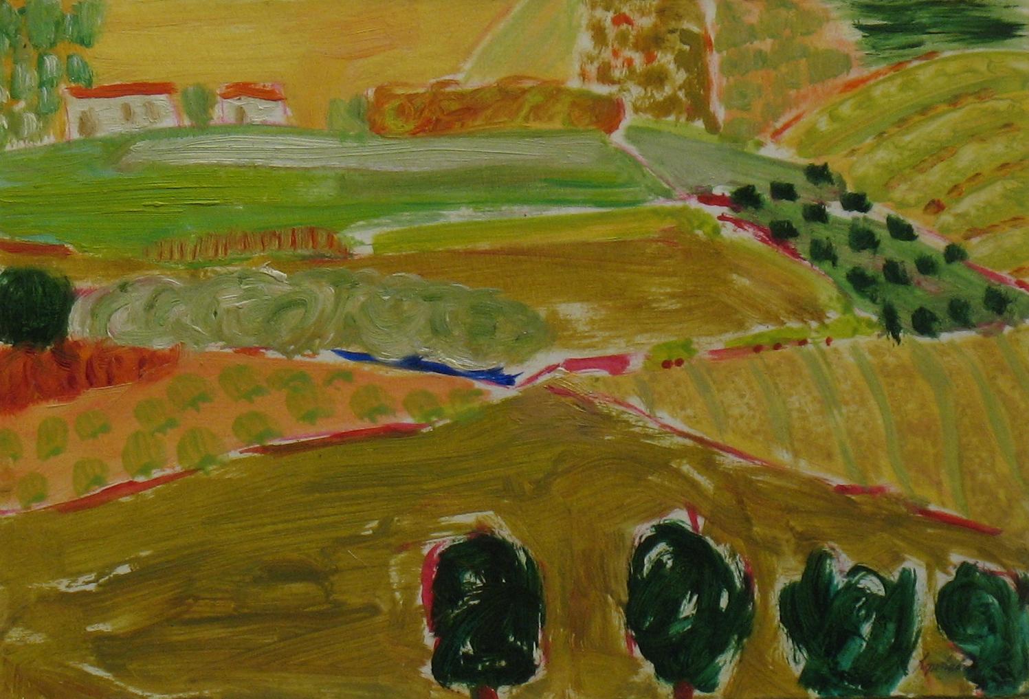 5.Mojacar Crops Cross oil on paper,board(7x12)ins.jpg