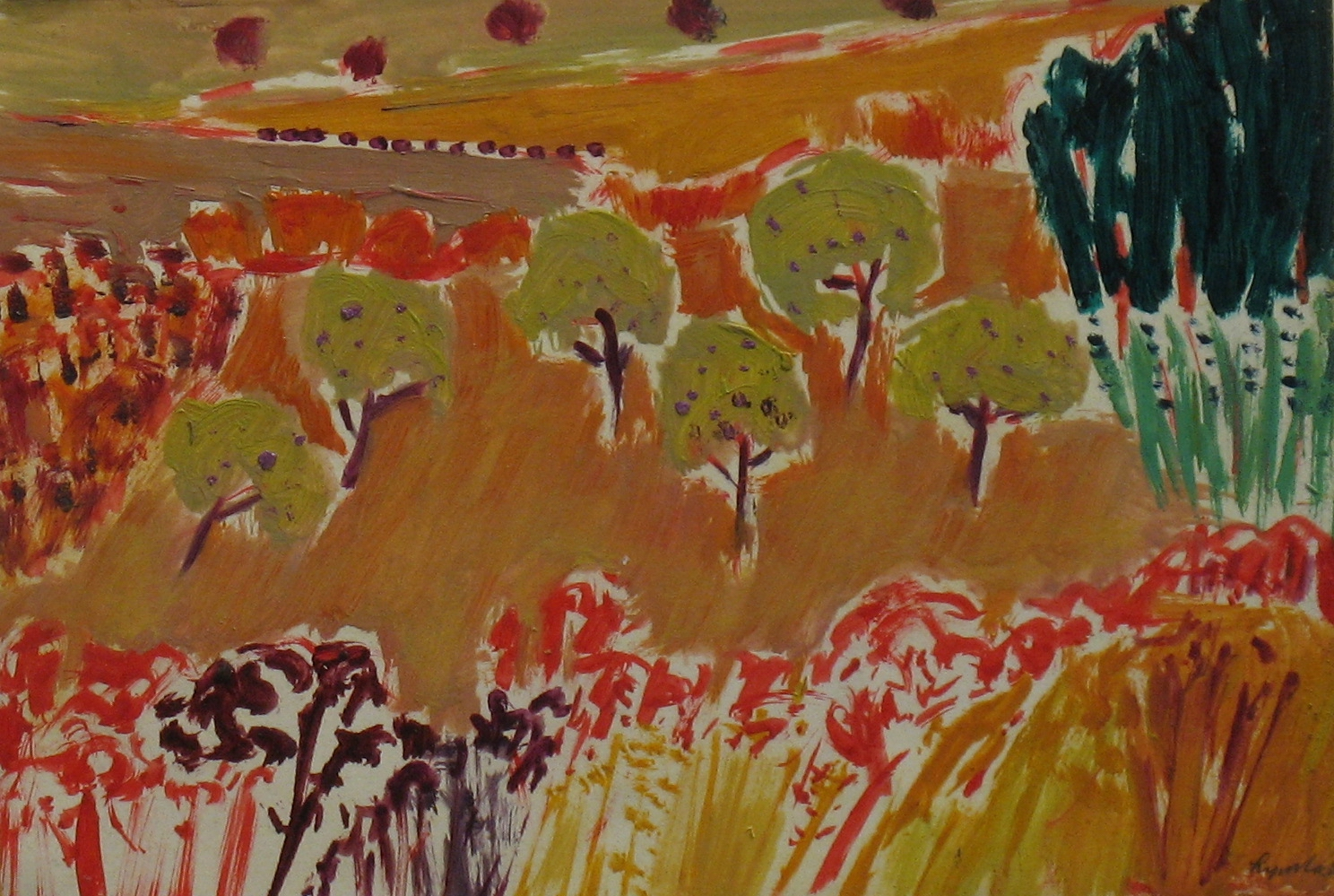 8.Six Olive Trees oil on board (7x12)ins.jpg