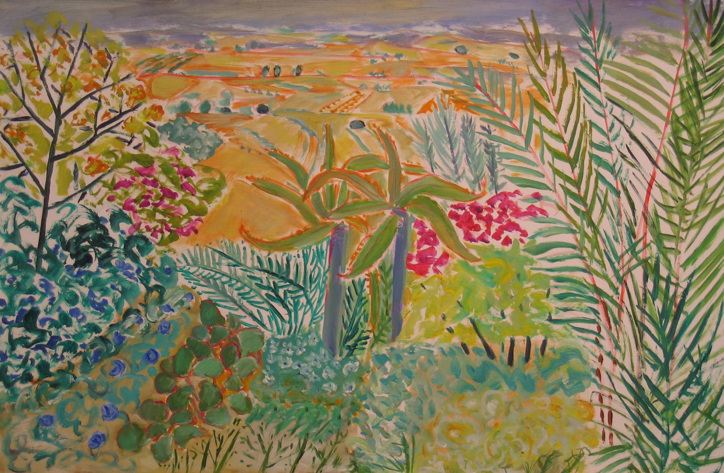 L From Mojacar Gardens (26x40)ins oil on paper.jpg