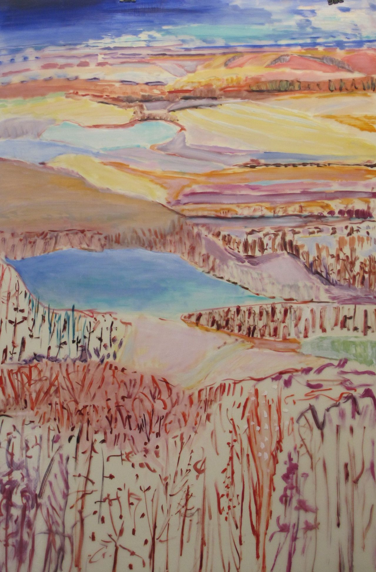 Lexan First Frost oil Graphite conte pastel on lexan 72 x 48 ins..jpg