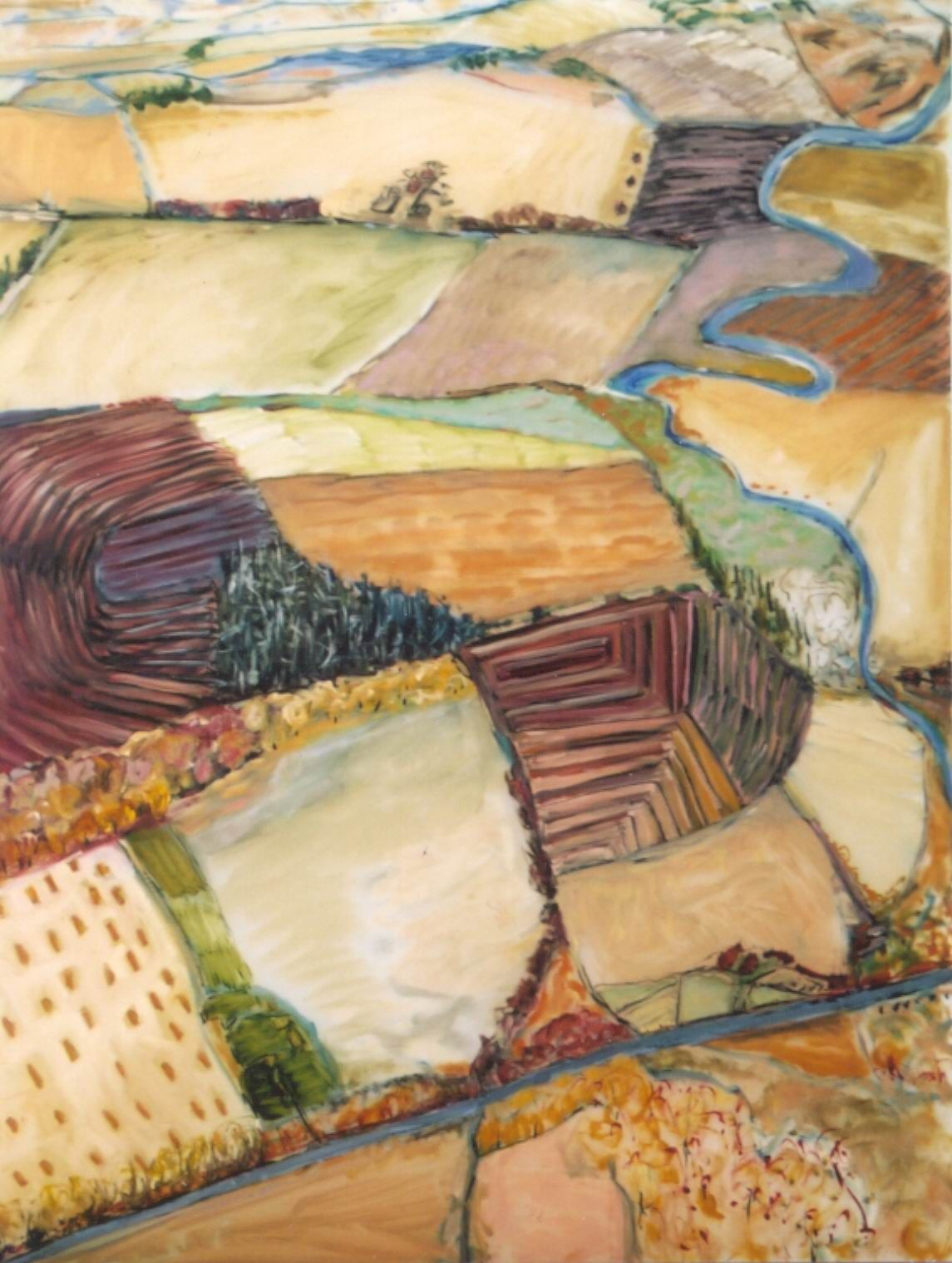 Lexan Over Looking the Crops oil on lexan 48x65.jpg