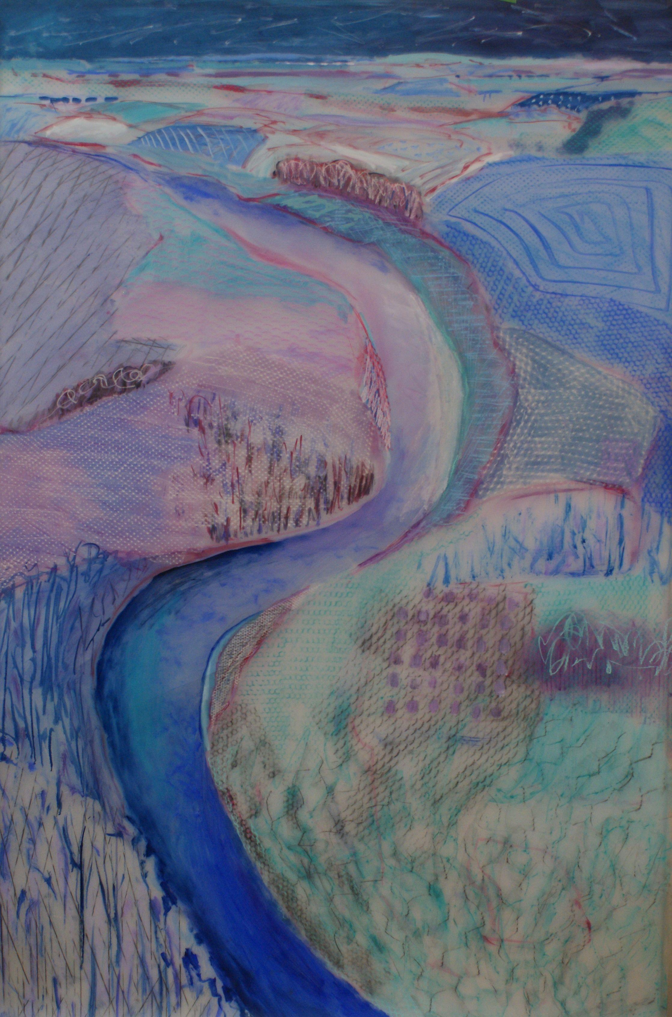Lexan Wintered River View oil mixed media on lexan 48x72 inches.jpg