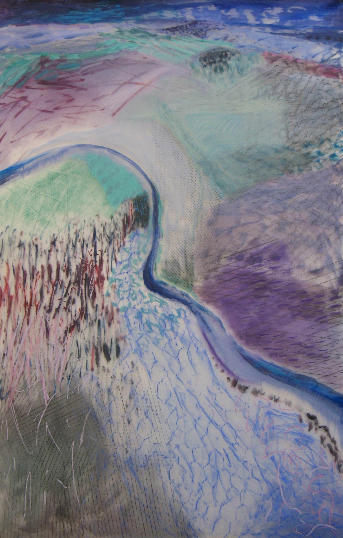 Lexan Wintered Valley 2 oil on Lexan (48 x 72)inches.jpg