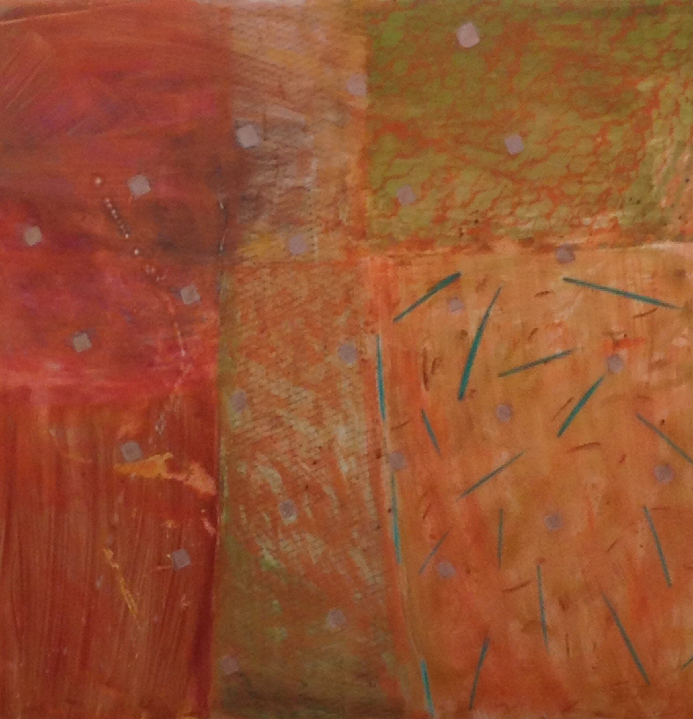 26 Earth Scapes red ground oil graphite mixed media 48x48 ins.jpg