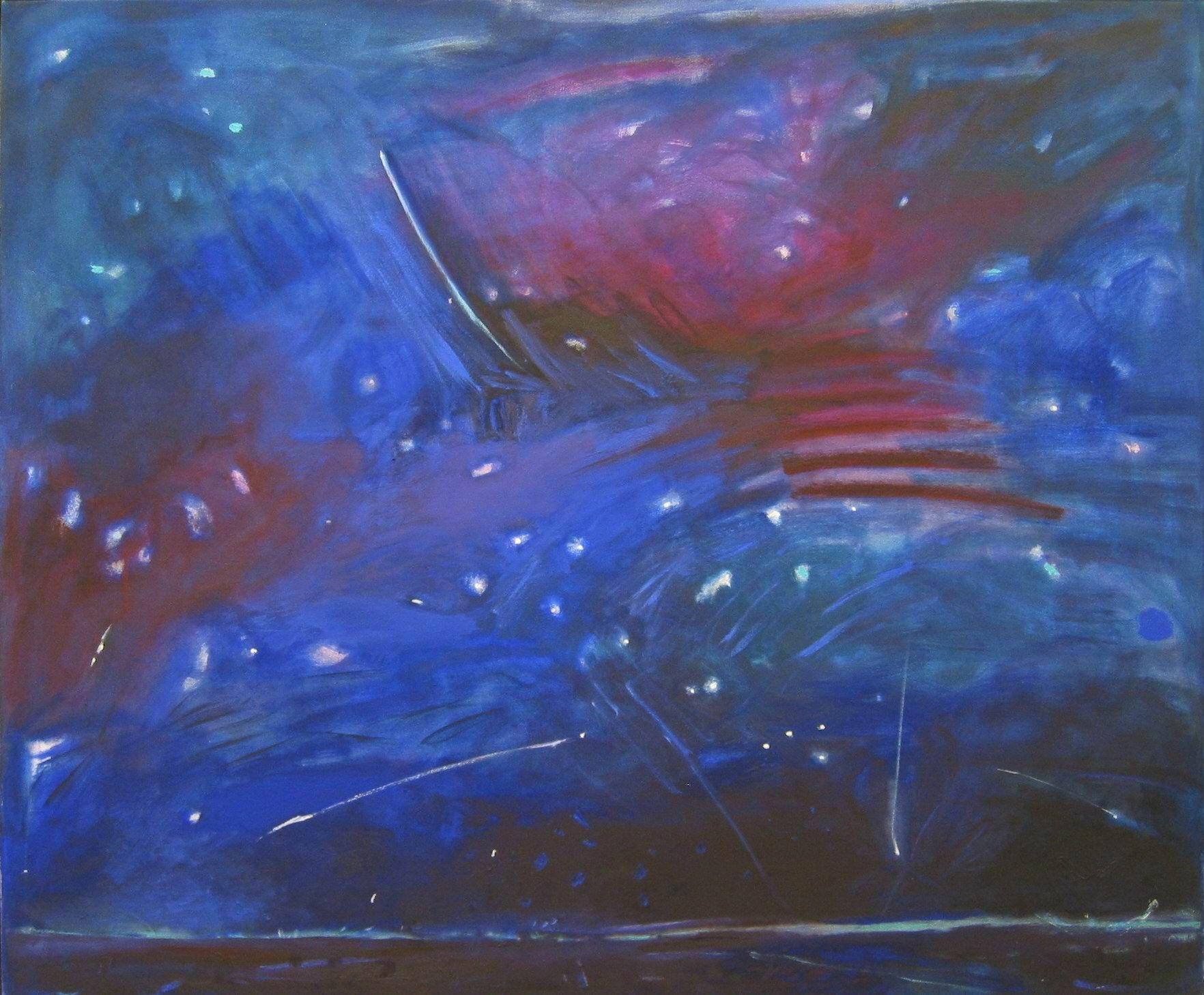 13Meteor Night oil on Canvas 50x50 in.jpg