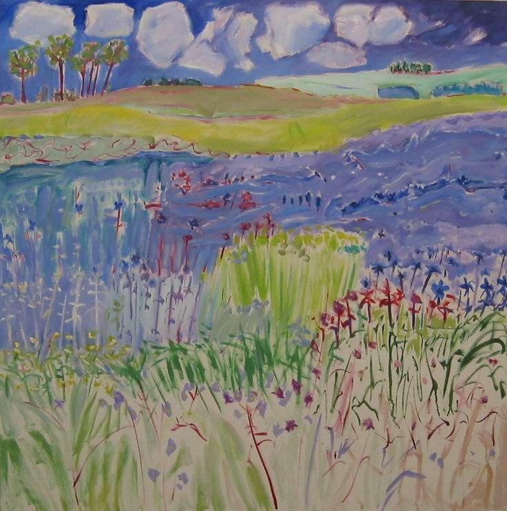 22Spring  Flowering borage  oil on canvas (40 x 40)ins.jpg