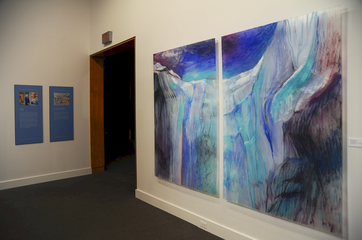 Installation Athabasca Glacier dyptic 2 9 48 x 72 )ins Whyte Musium Banff_1.JPG
