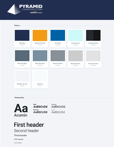 Style Guide/Prototypes - A style guide was created to compliment already existing brand standards while taking into account web best practices.