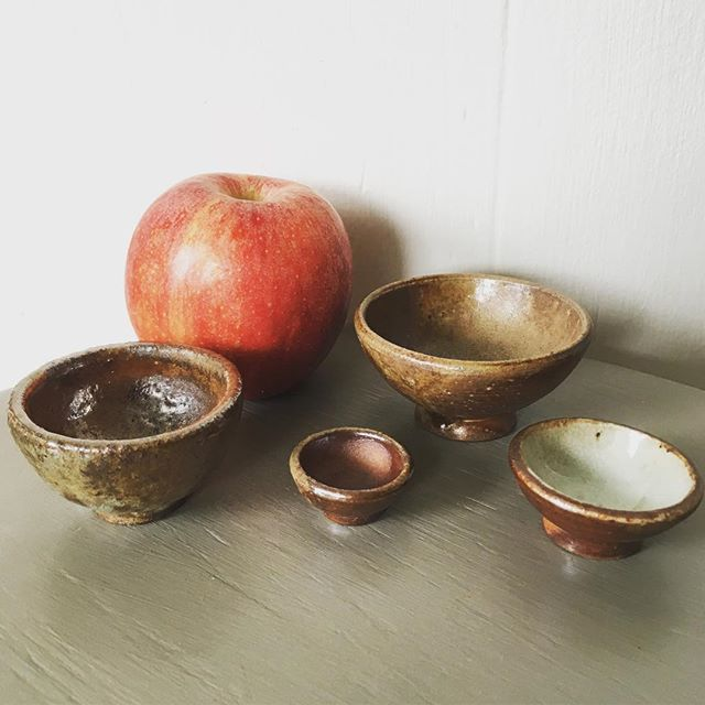 Not quite a fruit bowl... wood fired mini-bowls #minipots #woodfired #bowls #ceramics #pottery #stoneware