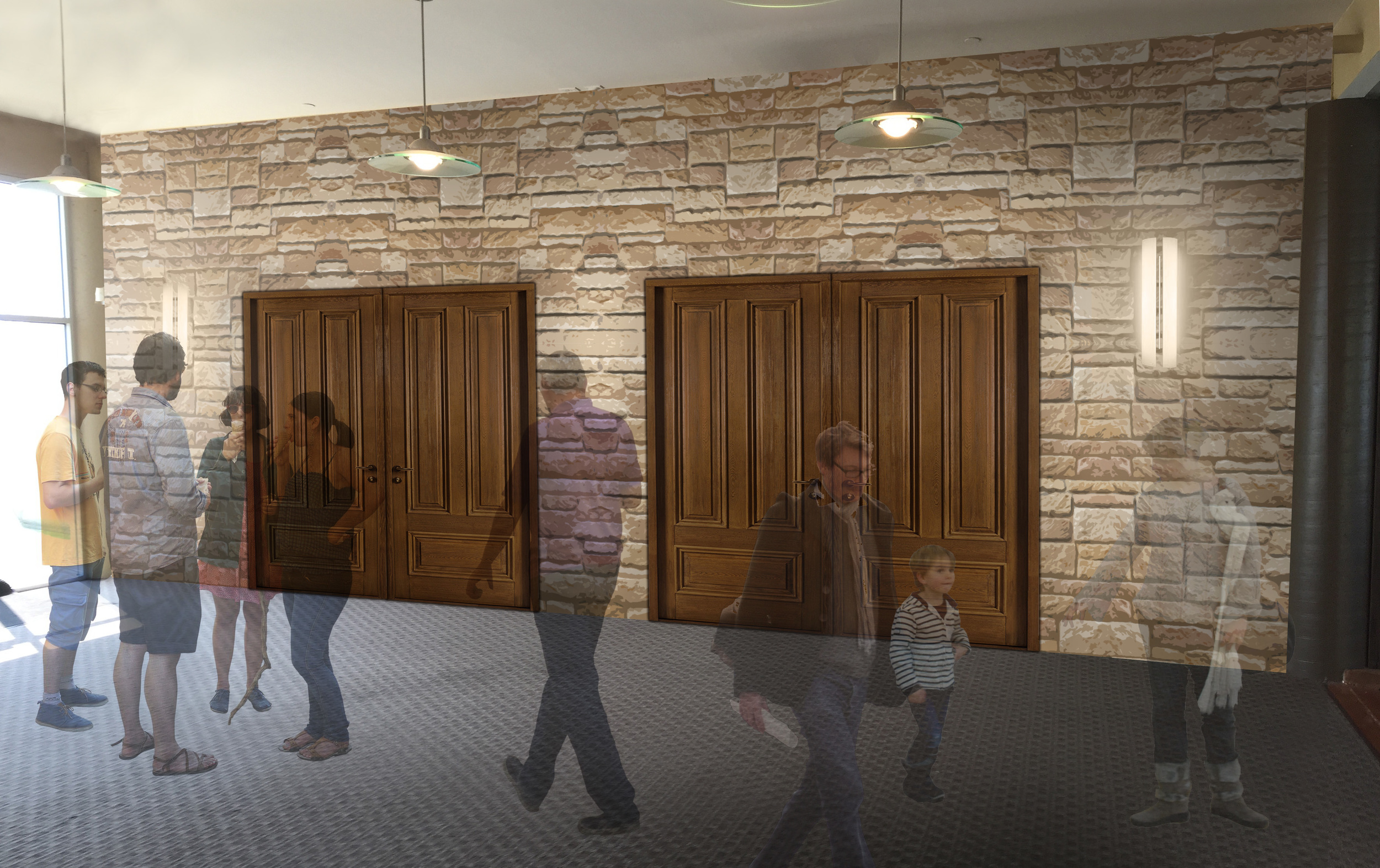 The Next Step - new vestibule entrance (click for larger image)
